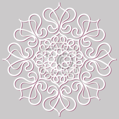 Rosa circular del ornamento floral. mandala, vector de la vendimia ...