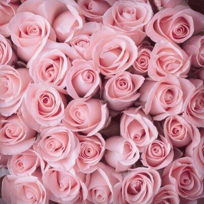 Vinilo rosa rosa ramo de flores fondo de la vendimia