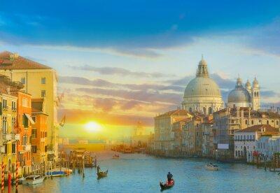 Vinilo Salida del sol en Venecia
