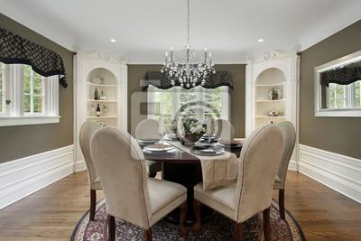 Salón comedor con gabinetes blanco vinilos para portátiles • vinilos ...
