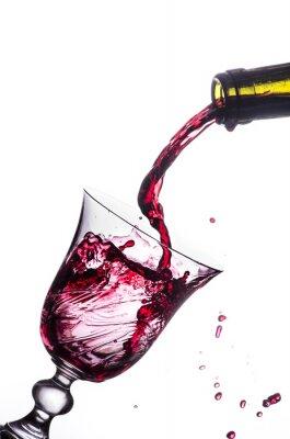 Vinilo salpicaduras vino tinto