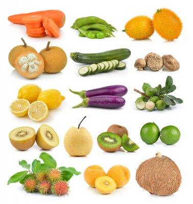 Vinilo Santol, zanahorias, guisantes, champiñones, calabacín, limón macadamia, coc