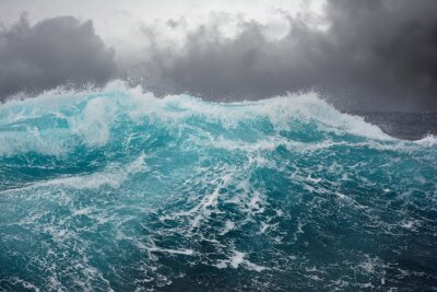 Vinilo sea wave in the atlantic ocean during storm