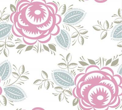 Vinilo Seamless vintage rosas patrón