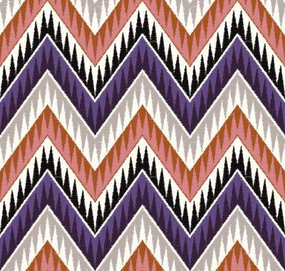 Vinilo seamless zig zag textured textile pattern