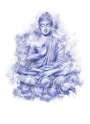 Vinilo Seated Buddha in a Lotus Pose