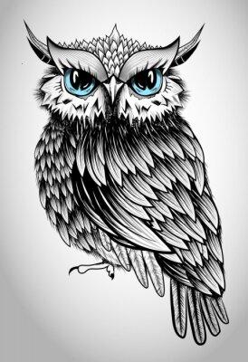 Vinilo Señora Owl - ilustración hermosa del vector