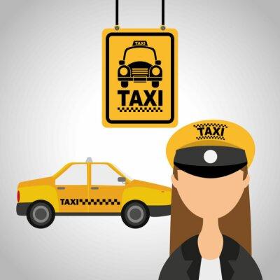 Vinilo servicio de taxi
