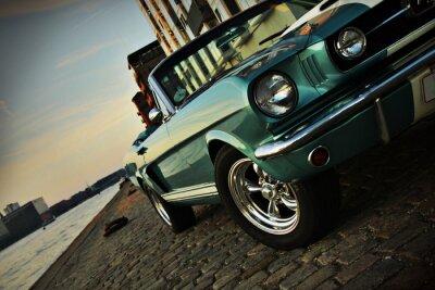 Vinilo Shelby Réplica del Mustang 350 en el sol poniente