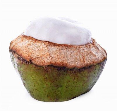 Vinilo Shell de coco aislado en el fondo blanco