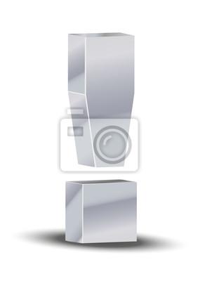 Signo de exclamación 3D