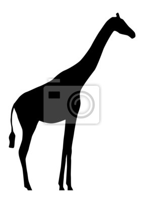 Vinilo Silueta de la jirafa