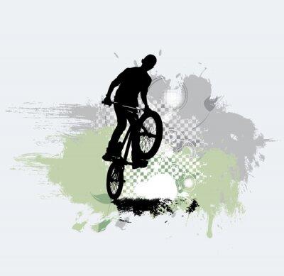 Vinilo Silueta de puente de bicicleta