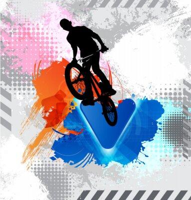 Vinilo Silueta de un ciclista.