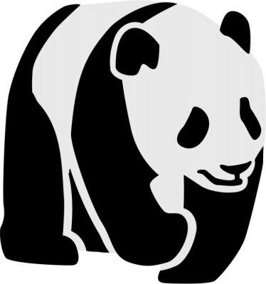 Vinilo Silueta de un panda