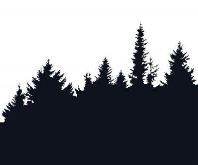 Vinilo Silueta del bosque