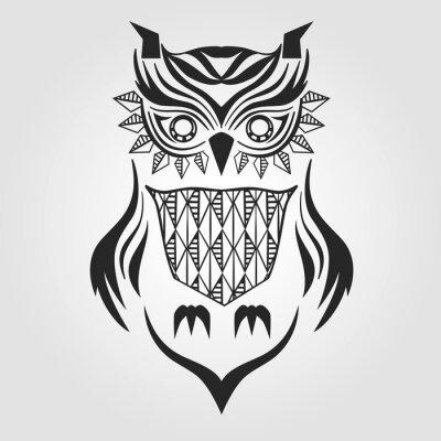Vinilo Silueta del búho. diseño gráfico. Ilustración del vector.