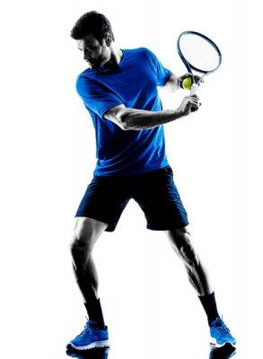 Vinilo Silueta del jugador de tenis de juego Hombre