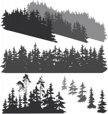 Vinilo Siluetas del bosque