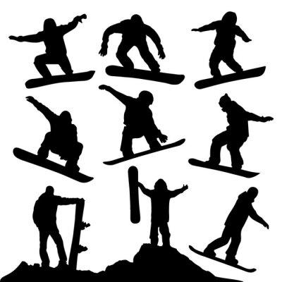Vinilo Siluetas Snowboard