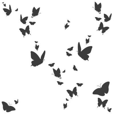 Vinilo Siluetas von Schmetterlingen