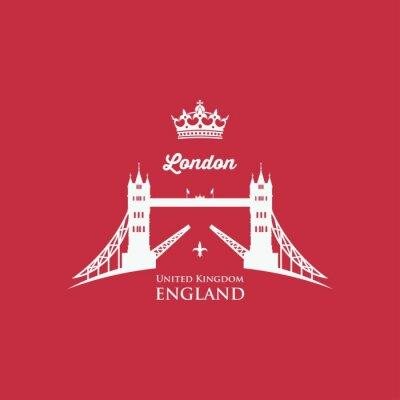 Vinilo Símbolo del puente de la torre de Londres