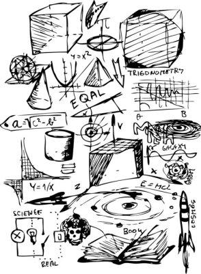 Vinilo símbolos matemáticos