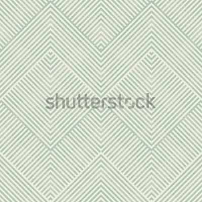 Vinilo Sin fisuras patrón geométrico abstracto en turquesa y beige sobre fondo de textura. El patrón sin fin se puede utilizar para baldosas de cerámica, papel tapiz, linóleo, textiles, fondo de páginas web.