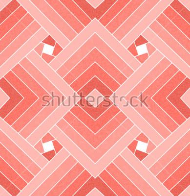 Vinilo Sin fisuras patrón geométrico cuadrado coral vivo