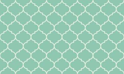Vinilo Sin fisuras vector patrón de color turquesa amplia marroquí