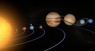 Vinilo Sistema solare pianeti spazio universo único