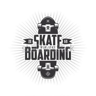 Vinilo Skateboarding t-shirt design. Urban skating. Skateboard typography. Vector vintage illustration.