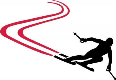 Vinilo Ski Run con Red Track