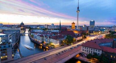 Vinilo Skyline de Berlín, con vistas a la Alexanderplatz