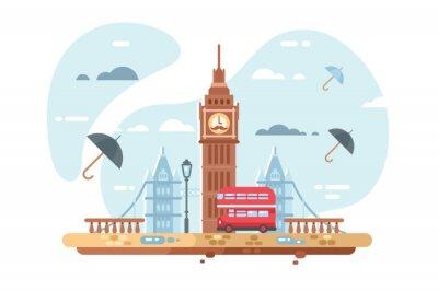 Vinilo Skyline de la ciudad de Londres