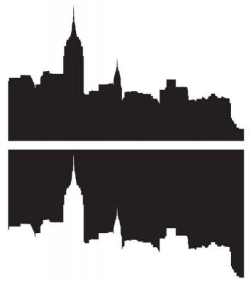 Vinilo Skyline de la ciudad de Nueva York