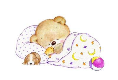 Vinilo Sleeping Teddy bear