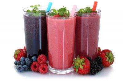 Vinilo Smoothie Saft mit Früchte Fruchtsaft Freisteller