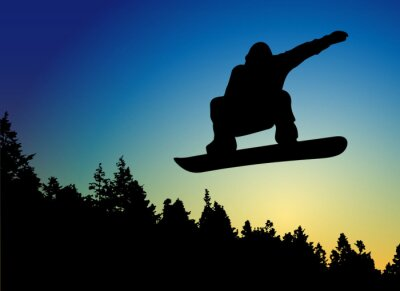 Vinilo Snowboard Jump