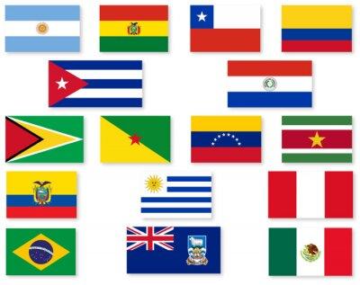 Vinilo South American Flag Set