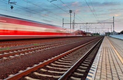 Vinilo Speed Train in station