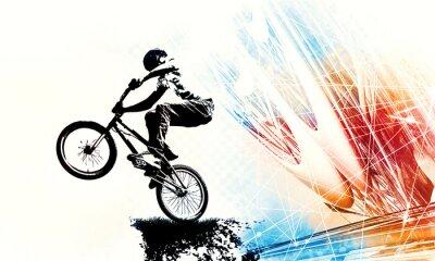 Vinilo Sport illustration of bmx rider