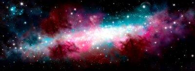 Vinilo Star nebula birth of a galaxy. The birth of the galaxy. Shining stars. Star nebula. Cluster of stars. The night starry sky. Space background. Spase. Universe