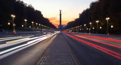 Vinilo Straße des 17. Juni en Berlín con Siegessäule