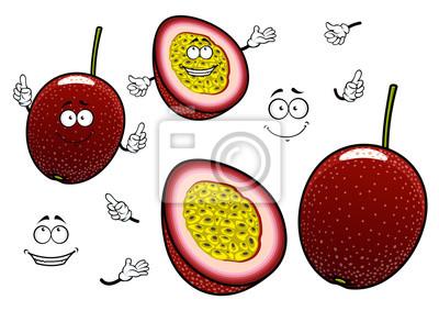 sudamérica dibujos animados exóticas pasión frutas vinilos para