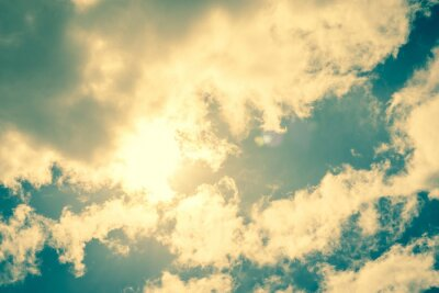 Vinilo Sun breaking through clouds