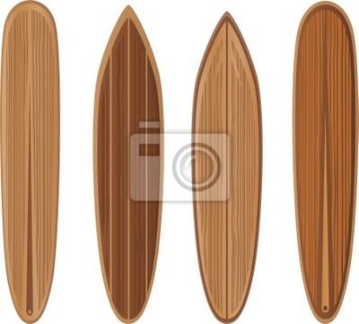 Tablas de surf de madera conjunto vinilos para portátiles • vinilos ...
