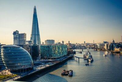 Vinilo Támesis y el London City