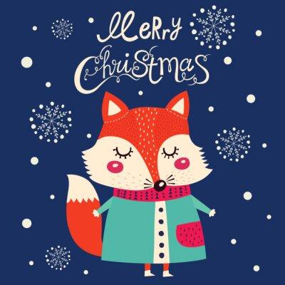 Vinilo Tarjeta de Navidad con lindo