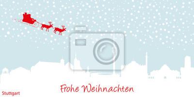 Vinilo Tarjeta de Navidad de Stuttgart